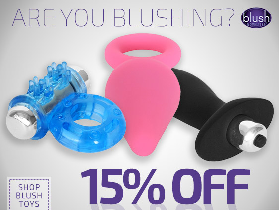 Get a discount on Blush Novelties sex toys.