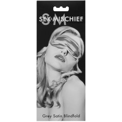 Sex & Mischief: Grey Satin Blindfold Sex Toy