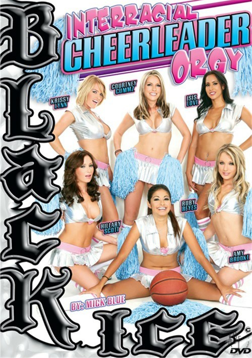 Interracial Cheerleader Orgy image