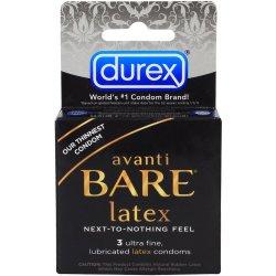 Durex Avanti Bare Latex - 3 Pack Sex Toy