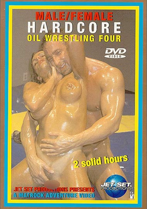 Male/Female Hardcore Oil Wrestling 4