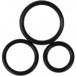 Perfect Fit: Premium Silicone Cock Rings - Set of 3 Sex Toy