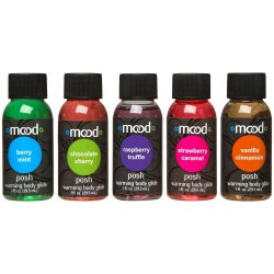 Mood Posh Warming Body Glides - 5 Pack - 1 oz. each Sex Toy