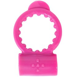 Neon Vibrating Waterproof Cockring - Pink Sex Toy