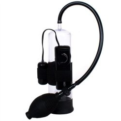 Classix Vibrating Power Pump - Black Sex Toy