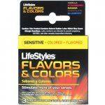 LifeStyles Flavors & Colors Lubricated  - 3 Pack Variety Sex Toy