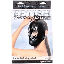 Fetish Fantasy Extreme Latex Ball Gag Mask - Black Sex Toy