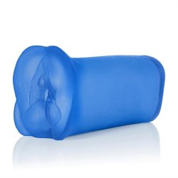 "Apollo: Duel Density Stroker - Blue - 6.5"" Sex Toy"