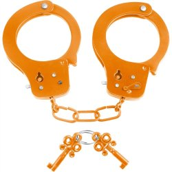 Neon Fun Cuffs - Orange Sex Toy
