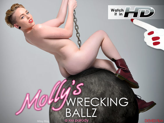Watch Molly's Wrecking Ballz: A XXX Parody HD Porn Movie starring Miley May.