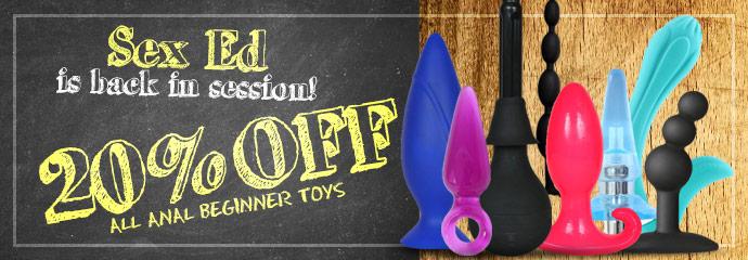 Shop 20% off anal beginner sex toys.