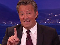 Matthew Perry tells porn story on Conan.
