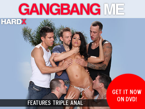 Buy Gangbang Me DVD porn movie from Hard X starring A.J. Applegate.